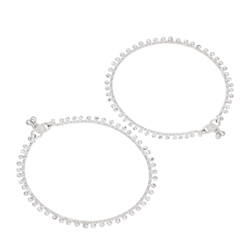 Silver Ethnic Anklets