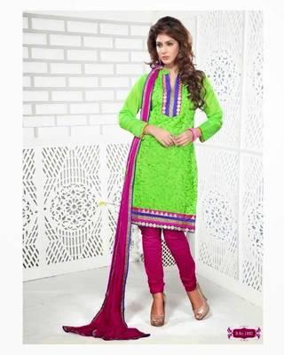 Chanderi / Cotton Silk Cotton Dress Material - DailyWear 002