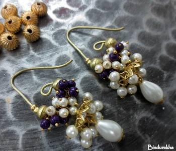 Long_Hook_Jhumka_White_Purple_Cluster_Pearl_Drop