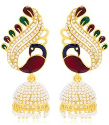 Buy Ritzy Peacock Gold Plated Earring For Women jhumka online