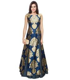 Buy party wear gowns by Ravechi Fab (Navy Blue) party-wear-gown online