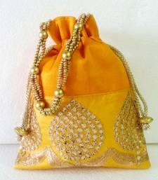 Buy Party,Ladies,purse,bag,evening bag,gift,Mehendi,mehndi,marriage,gifting, purse,Ethnic, Handmade,Indian,Batwa, Potli clutch online