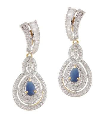 Lovely Blue CZ Earrings 1