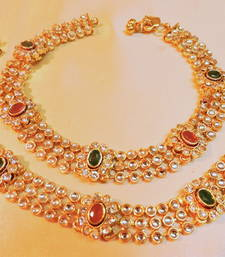 Buy wedding spl gold plated polki payal anklet online