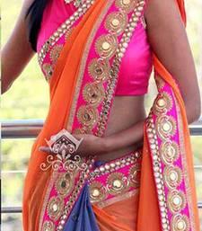 Buy georgette saree by fabkaz (multicolor) ombre-saree online