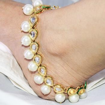 Exquisite Kundan Anklet