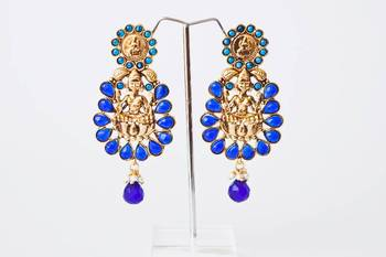 Royal Blue Multistone Lakshmi - nkf1401nb