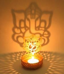 Buy DIVINE Holy God Ganesha T light festive gift shadow diya WITH WAX DIYA fashion-deal online