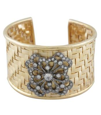 Golden Basket Cuff