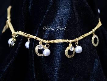Pearl Golden Anklets