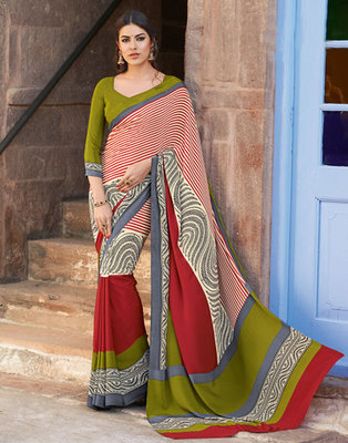 Hypnotex Art Silk Multi Color Saree Paris 9635