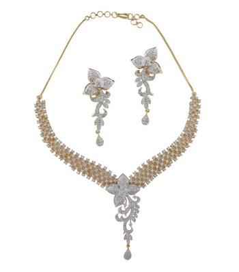 Dazzling Blossom Necklace Set