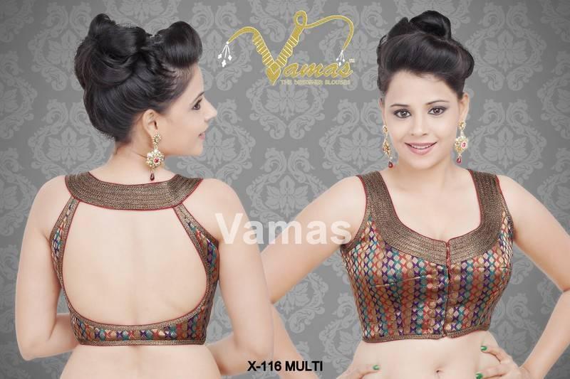 Indian Sleeveless Blouse Patterns 25