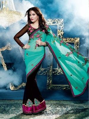Zoom Fabric Chiffon Saree 6818