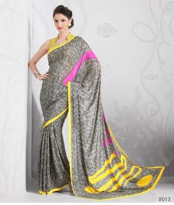 Zoom Fabric Crape Saree 7052