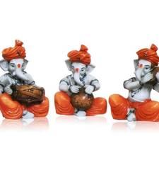 Buy Set of 3 Instrumental Ganesha Idols black-friday-deal-sale online