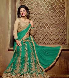 Buy Designer green color Embroidered Fancy lenghacholi ghagra-choli online
