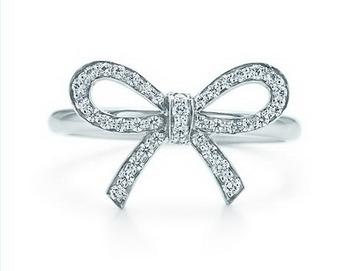 Cara sterling silver and  certified Swarovski stone Bow down to the heart ring for Women