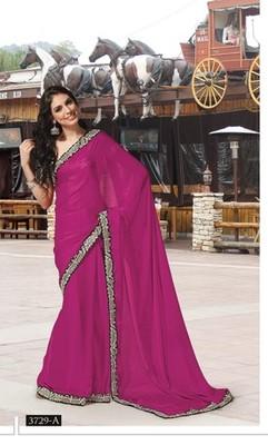 NeelFab pink Art Silk Saree-3729-A