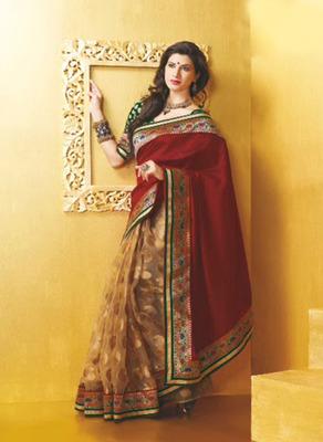 Exclusively Designer Golden Banarasi Jacquard Saree