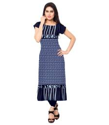 Buy multicolor printed crepe long-kurtis kurtis-below-250 online