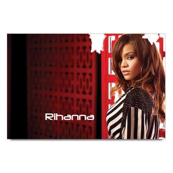 Rihanna In Black & White Poster