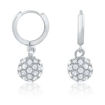 Mahi Royal Silver Sparklers Earrings