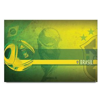Brazil World Cup Football Poster