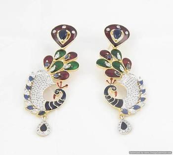 Royal peacock earring