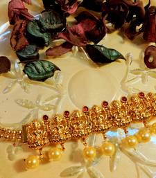 Buy Gold plated laxmi adjustable bajuband bajuband online