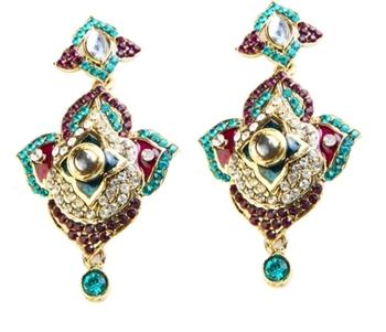 Dealtz Fashion Blue & Purple Festive Earrings