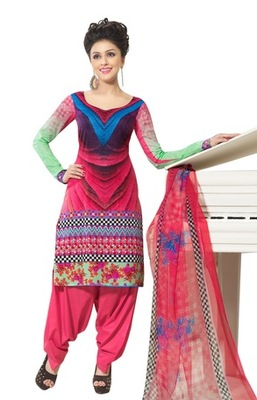 Triveni Amazing Abstract Print Cotton Salwar Kameez TSXBZSK7347A