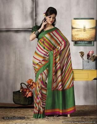 Offwhite Multi Bhagalpuri Cotton Silk Saree SC7242