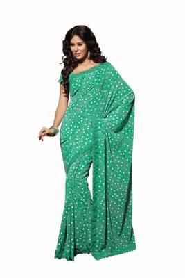 Green Color Georgette Saree