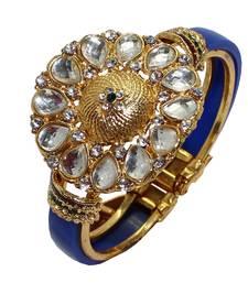 Buy Blue studded_jewellery Diamond bangles-and-bracelets bangles-and-bracelet online
