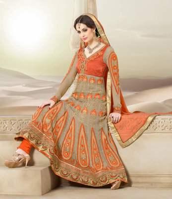 Long Anarkali Churidar Fabric SC2008