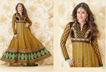 Crepe Salwar & Banarsi Georgette Kameez  Vinay-9331