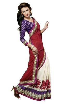 Triveni Enchanting Party Wear Border Worked Viscose Indian Ethnic Saree