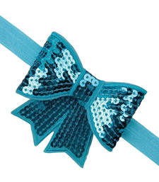 Buy Dazzling Blue HeadBand for Baby Girl With Beautiful Bow hair-accessory online
