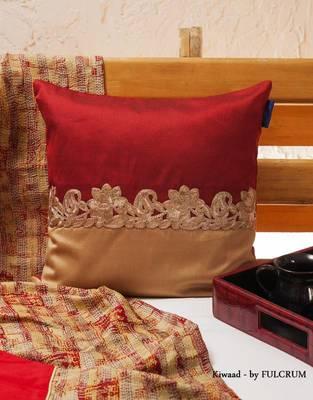 Cushion cover - Maroon sqaure