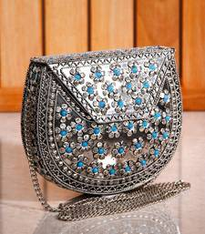 Buy Metal Flower Turq Sling Clutch ramadan-gift online