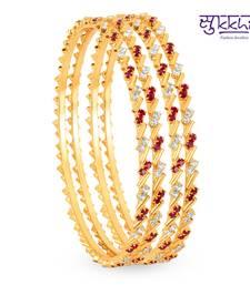 Buy Sukkhi Gold Plated Color & AD Stone bangels Diwali offers 2014 diwali-discount-offer online