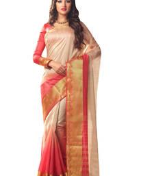 Buy cream hand woven art silk saree With Blouse art-silk-saree online