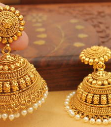 Buy BEAUTIFUL ANTIQUE DESIGNER BIG JHUMKKA jhumka online
