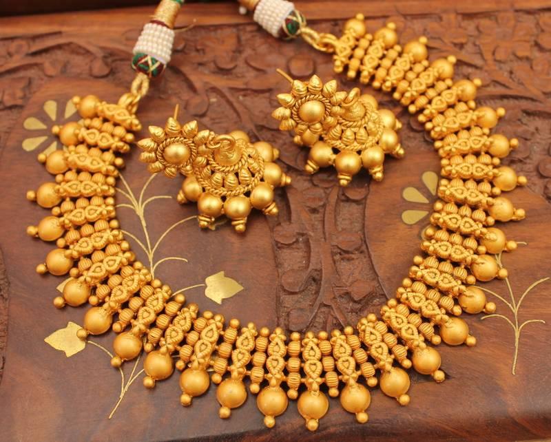 Buy Royal Matte Finish Necklace Set Dj02632 Online