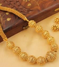 Buy AWESOME DESIGNER BALLS PEARL NECKLACE SET-DJ11689 necklace-set online
