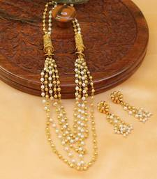 Buy Beautiful hand made necklace set south-indian-jewellery online