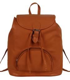 Buy Tan pu kerry backpack backpack online