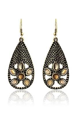 Just Women Golden color Metal Greek Style Earrings