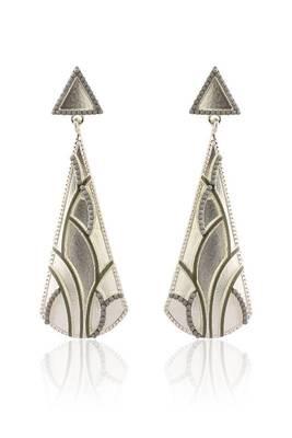 Just Women Silver Color Metal Cosmopolitan Earrings